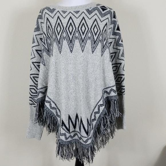 f2348027f84 Olivia Sky Poncho Sweater